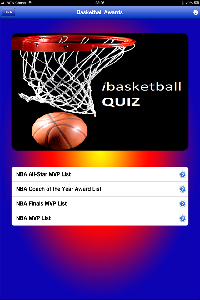 Screenshot iBasketball Quiz